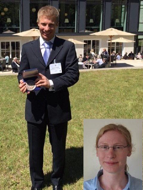 Two former MPI-CPfS PhD students were awarded the Otto Hahn medal: Alexander Steppke (main picture,  2015)  and Heike Pfau  (inset, 2016)